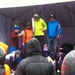 Men's race division podium