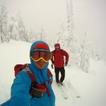 Eric and Stano skiing in Nelson BC