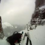 Pop break at the top of Surprise Pass