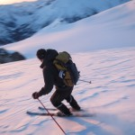 Skiing the Diavolo Glacier.