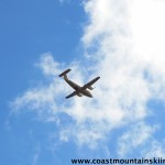 This big airplane passed over us several times near Garibaldi Lake on the way to Mt. Price.