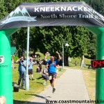 Gary won the KneeKnacker with a near record time. Here he is actually airborne despite having just run 50 kilometers.