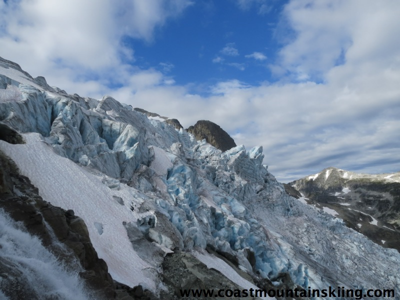 Seracs on the Matier Glacier Icefall.