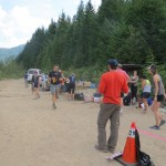 Aid station volunteers at the Corners. All the race volunteers were awesome.