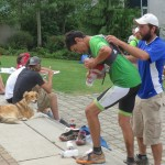Alexis was awesome. Here refilling my pack at Quest.