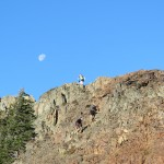 Scrambling at the top of Mt. Brunswick.