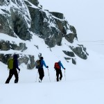 Skinning up the Horstman Glacier.