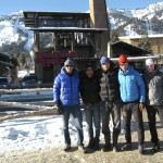 The Canadian contingent at U.S. Nationals in front of the Jackson Hole Gondola.