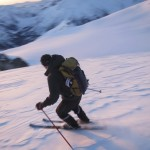 Bruno at 4am on the Spearhead Traverse.