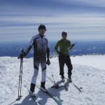 Not sure who took this pic but one of the few of Nick and I on our short break at the summit of Mt. Rainier.