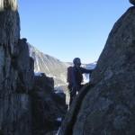 Nick making it look easy on Mt. Rethel.