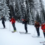 Nothing like a group of skinny guys on skinny skis looking to ski powder.