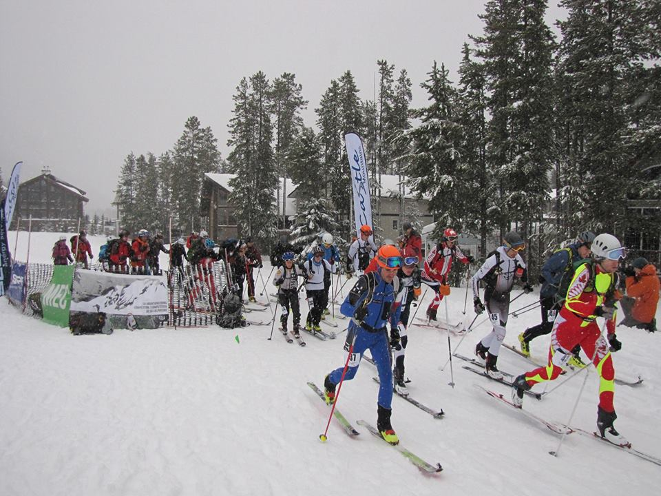 Racers taking off from the start line at Castle Mtn. Photo Credit Unknown.