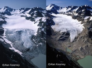 Alan Kearney Photo. Glacial Recession in the Cascades comparing 1981 to 2006!