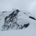Big cornices all along the ridge.
