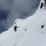 Climbing Duke ridge.
