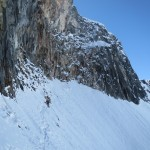 Big snowfield traverse