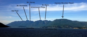 The Howe Sound Crest and it's peaks.