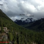 The upper Shannon Creek Valley from the Sea to Sky Gondola.