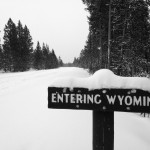 Yellowstone Park is closed for the season so you can ski in on the snow-covered roads. It has a very desolate feel to it.