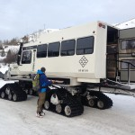One of several big snowcats that took racers up to the Irwin venue. I opted for the sled ride.