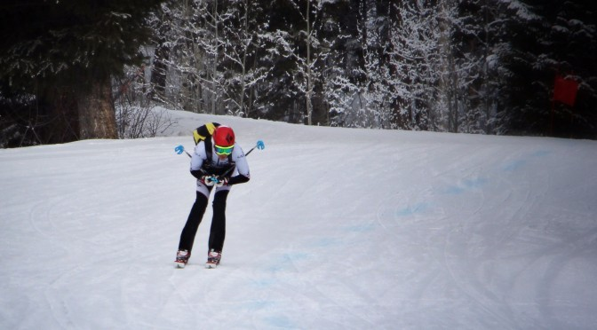 Finishing the Jackson Hole Race. Jeanne Carter Photo.