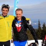 Lucas and I post race (Photo from Kandahar Ski Club FB Page)