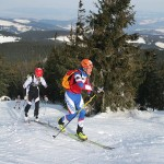Lucas and I racing at Puchar Pilska (Photo from Kandahar Ski Club FB Page)