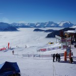 Amazing view from the finish area of the vertical race. (Andrea's Photo)