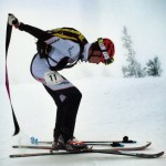 Ripping skins during the Jackson Hole Race