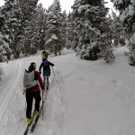 Easy skiing on Teton Pass with new Wyoming friends.