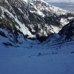 The King Couloir. Not as bad as it looked from below!