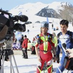 Interview after stage three of the Pierra Menta. Andrea Kuba Photo.