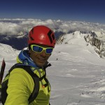 Summit of Mt. Blanc, Highest peak in the Alps.