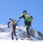 Pascal and I almost at the finish en route to winning the Ecrins Race