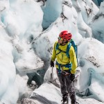 A bit different but still training - ice climbing seracs on the Serratus Glacier.