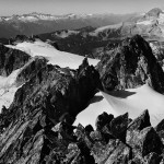 Deception Peak and Nch'Kay (Garibaldi) from the summit of Mamquam.