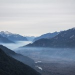 Forest fire fog in the Squamish Valley