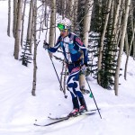 Racing on Fischer AlpAttacks in Crested Butte