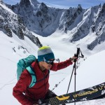 Colin skiing in the Argentiere Basin.