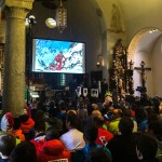 Race briefing in the Zermatt church before the PDG was cancelled.