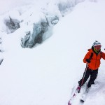 Lars Erik near the Seracs du Geant on the Vallee Blanche