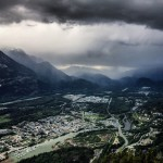 Storm rolling down the Squamish Valley