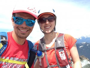 Summit of Sky Pilot with Andrea!