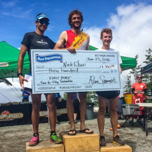 I jumped in the Canadian Mountain Running Championships and finished 2nd to Nick.