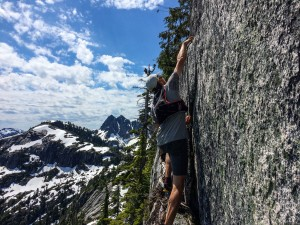 Nick scrambling on Mt. Habrich.