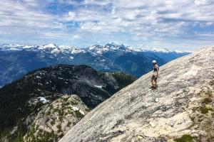 Nick walking off Mt. Habrich.