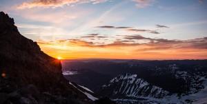 Sunrise at Camp Schurman.