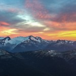 Sunset over Whistler on an evening scramble.