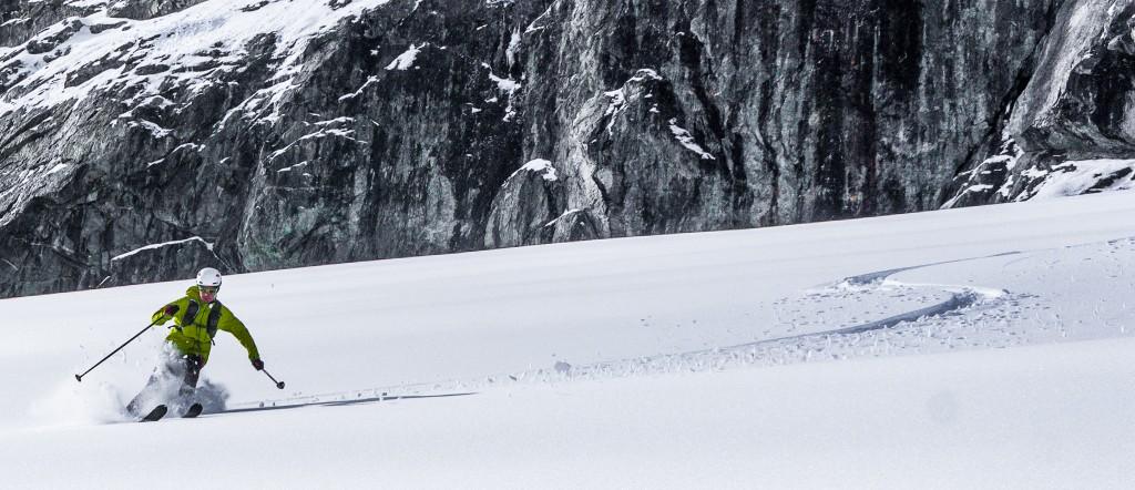 Skiing the Blackcomb Glacier on Oct 9th. Nick E Photo.